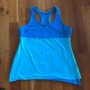 Lucy layered mesh athletic tank top